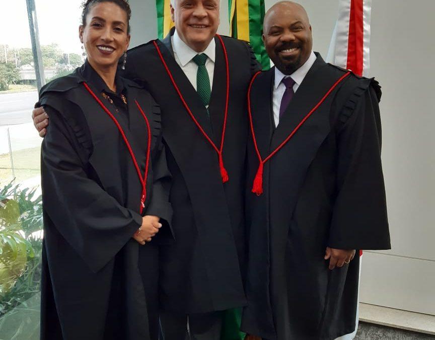 Presidente da Comissão Especial da Igualdade Racial da OAB/RS, Dra. Karla Meura, Dr. Ricardo Breier presidente da OAB/RS e Dr. Roberto Alexandre